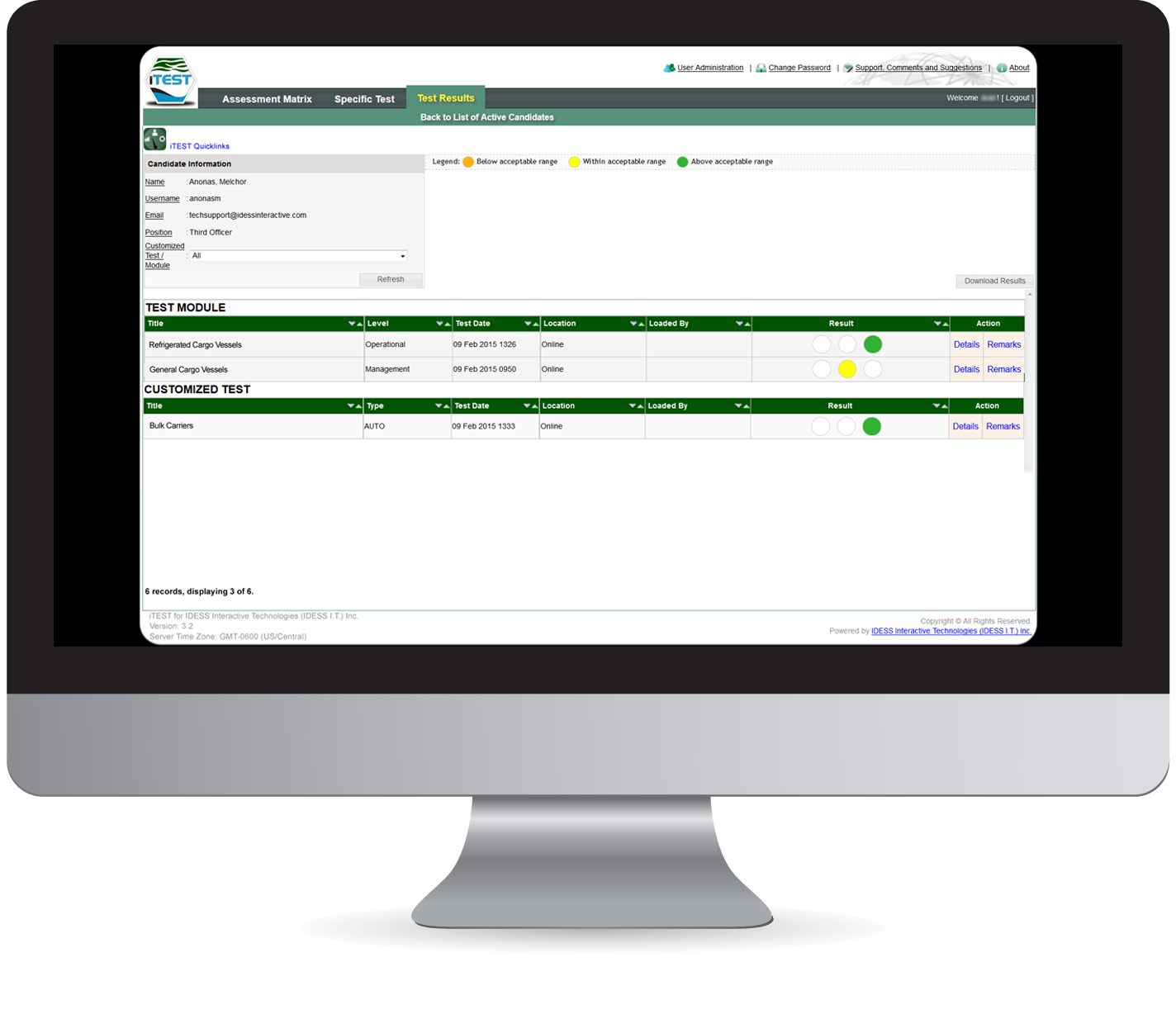 iTEST Assessment System Features Administrative Functions
