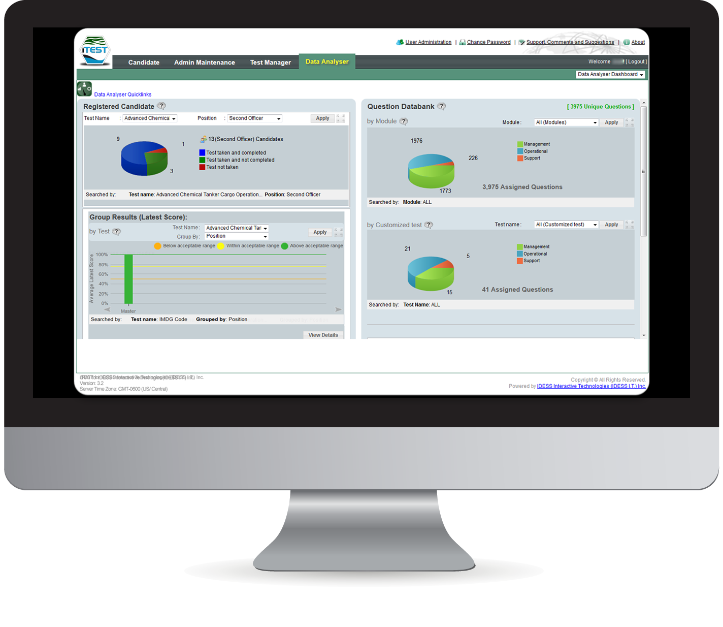 iTEST Assessment System Features Data Analyser