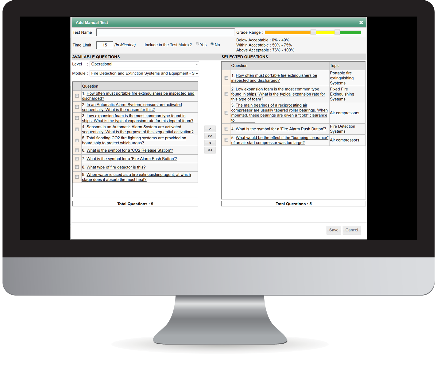 iTEST Assessment System Features Test Manager